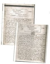 WW2 Newport Isle of Wight Censored Pair Airgraph Letters Calcutta India