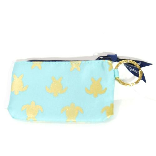NEW NWT Simply Southern ID Case Holder Zip Wallet Keychain Sea Turtles Turquoise