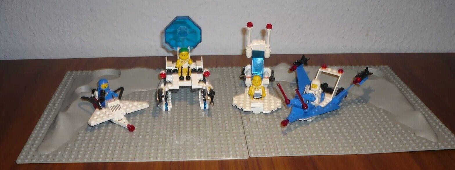Lego - Raumfahrt Fahrzeuge mit Krater-Grundplatten