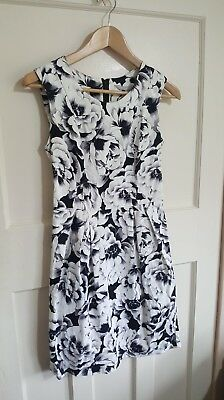 NEW DEBENHAMS RED HERRING ROSE DRESS TEA DRESS FLORAL FIT /& FLARE SHORT 8-18