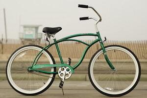 26 Men Beach Cruiser Bicycle Bike Firmstrong Urban Dark Green Ebay