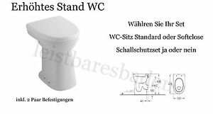 keramag care stand wc flachsp ler erh ht um 10cm behindertengerecht moselwein ebay. Black Bedroom Furniture Sets. Home Design Ideas