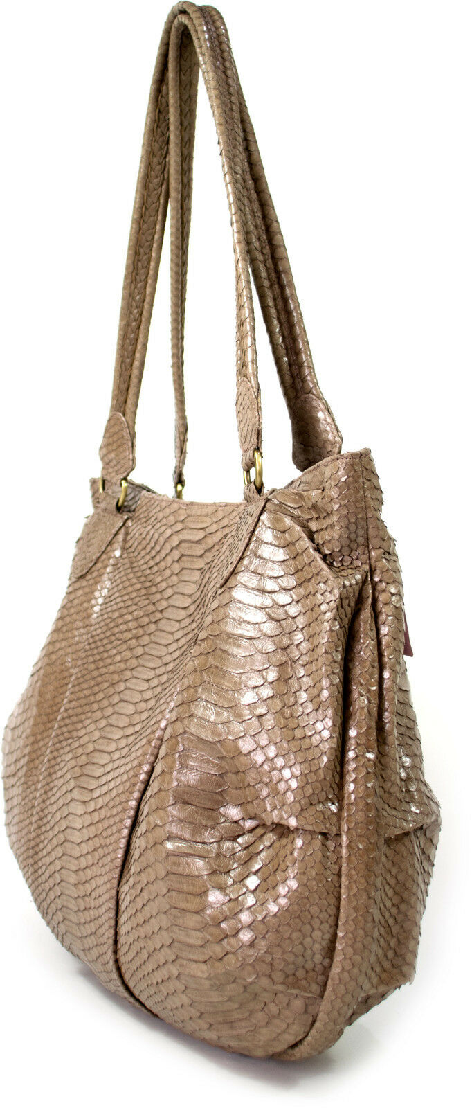 FISH IN THE SEA Cosmo Bag Python nude pearl Schlangenleder Schlangenleder Schlangenleder Damen Shopper XL NEU | Sale Online Shop