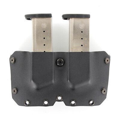SINGLE STACK Models OWB Kydex DOUBLE MAG Holster BLACK CARBON FIBER