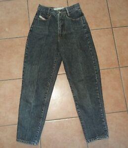 Jeans Pantalon Diesel Basic W29 34 36 38 S Fuselé Vintage 70er J Gris Noir-afficher Le Titre D'origine