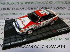 voiture 1/43 IXO altaya Rallye n°120 Catalogne 1991 : TOYOTA CELICA GT-4 Schwarz