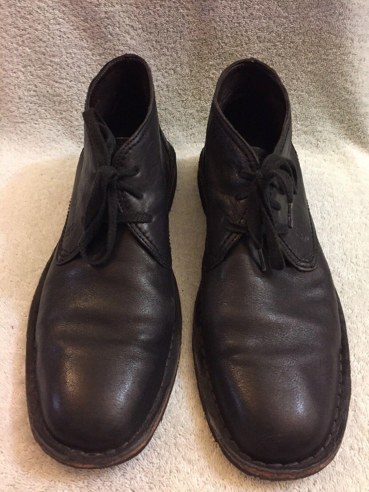 John Varvatos Star Usa Hipster Desierto Chukka botas De Cuero Negro Hombre M