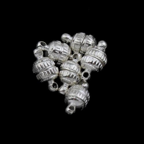 10 Magnet Verschlüsse Walzen 11mm Silber Messing Schmuckherstellung MODE M479#2