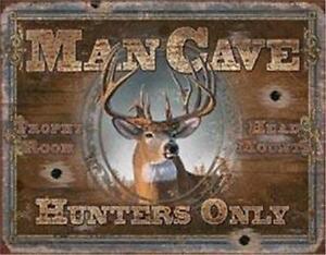 Man Cave Hunters Lodge Tin Sign Wall