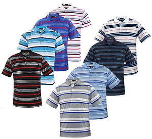 Mens-T-Shirts-Yarn-Dyed-Strip-PK-Polo-Shirt-Pocket-Tops-Multi-Color-Sizes-M-2XL