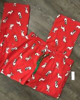 Old Navy Flannel Pajama Pants Sz Large Red Bulldog Holiday Gifts