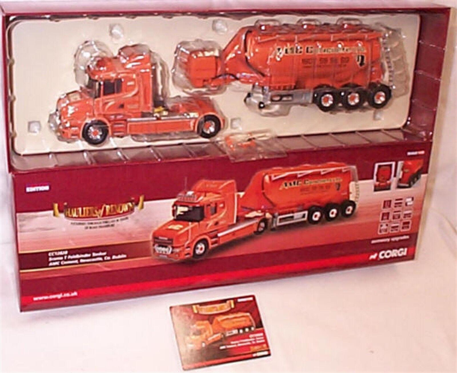 Corgi CC12828 Scania T feldbinder AMC cemento petrolero 1-50 Nuevo En Caja Ltd Edition