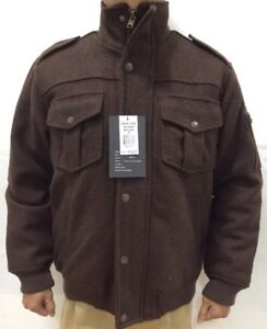 0f4d8315e63d Men s Jordan Craig Jacket Brown Poly Wool with Applets and Pockets ...