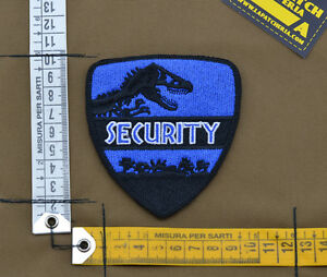Ricamata-Embroidered-Patch-Jurassic-Park-034-Security-034-with-VELCRO-brand-hook