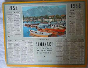 Details Sur Calendrier Almanach Des Ptt Annee 1958 Anniversaire Cadeau Mariage Hommage