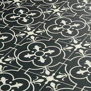 Victorian Tile Effect Sheet Vinyl