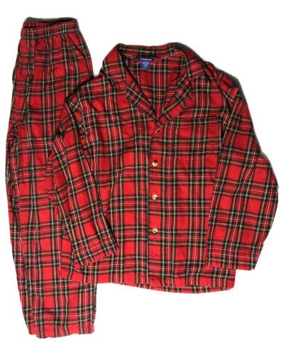 Mens Pendleton Red Plaid Cotton Flannel 2 Piece Pa