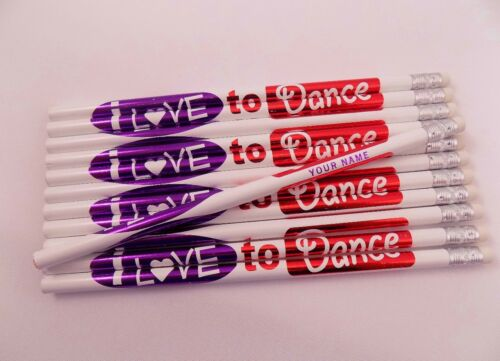 """12  /""""I LOVE TO DANCE/""""  Personalized Pencils"""
