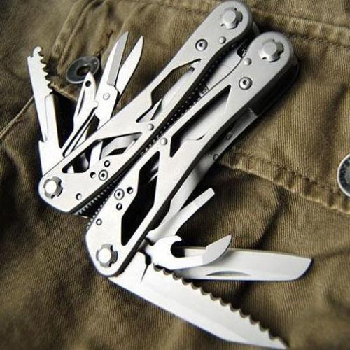 Hot Sale Silver GANZO G202 Multi Pliers Multi Tool Toolkit Screwdriver Kit