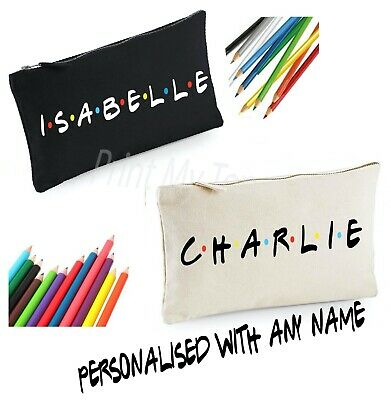 Friends Personalised Stationery Pencil Tin Case Themed Gifts Add Name