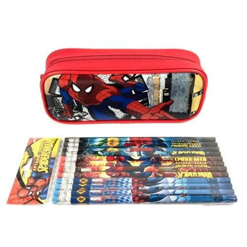 Marvel Spider-man  Pencil Case Color Red Pencil Pouch with 12 Pencils