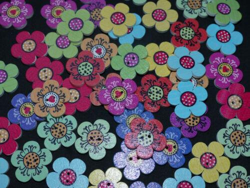 Diferentes colorido tendencia madera botones botón mezcla elementos decorativos coser hobby DIY selección