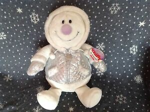 TESCO-SNOWMAN-LARGE-21-034-TALL-SOFT-PLUSH-TOY-COMFORTER-EX-CONDITION-RARE