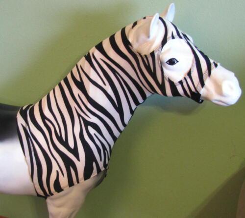 Zebra Mini-Cheval Miniature Cheval Tough 1 Lycra Hood in Fun Prints