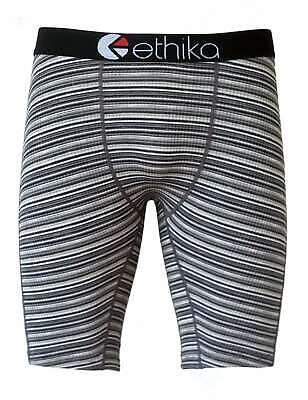 New Ethika Black Stripe Man//Woman Underwear Sports Shorts Boxer Pants Size XL