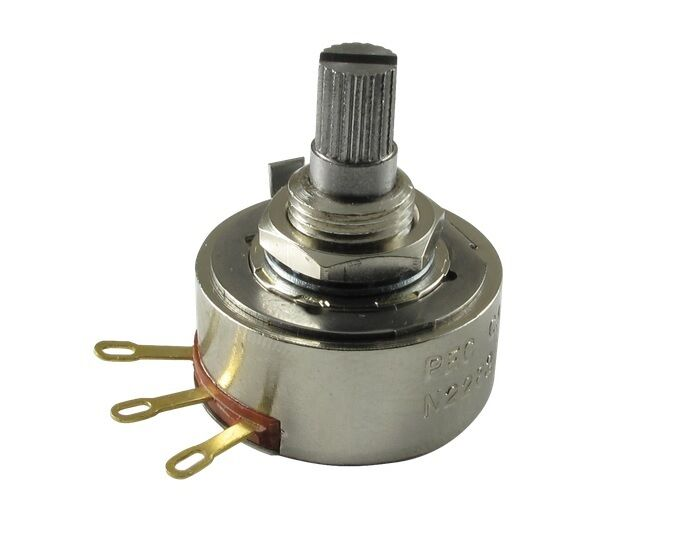 POTENTIOMETER PEC 250K AUDIO 24mm KNURLED SHAFT FOR FOR FOR BASS OR GUITAR - THE BEST   costo real