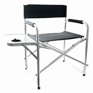 Details about Redwood Leisure Outdoor Directors Chair with Side Table -  Black