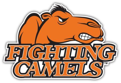 "Campbell Fighting Camels NCAA Vinyl Car Bumper Vinyl Sticker Decal 5/""X3.8/"""