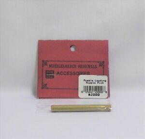 Details about Black Powder Shooting Muzzleloader Originals Brass Nipple  Pick With Case Picks