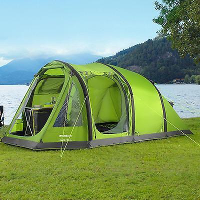 Berger Tunnelzelt Campo 4-L Deluxe Aufblasbar 4 Personen Camping Outdoor grün