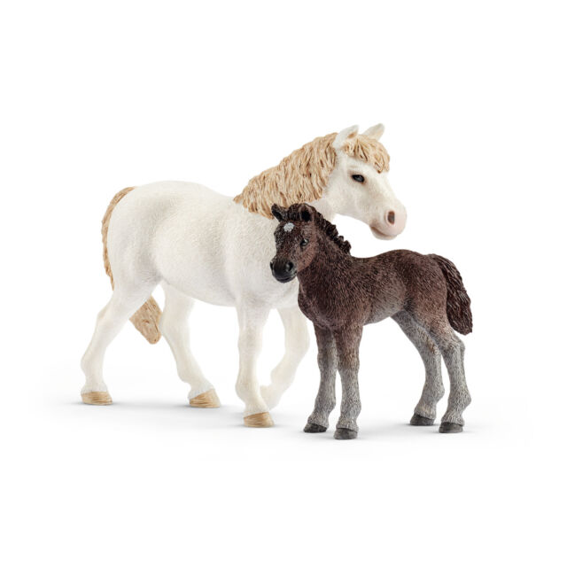 42423 Schleich Pony Mare and Foal (Farm World) Plastic Figure
