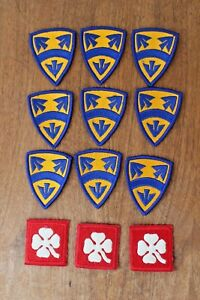 Details about Vintage WWII United States Army Patches Military
