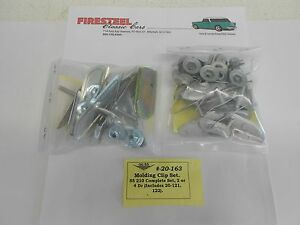1955-Chevy-210-20-163-MOLDING-CLIP-SET-Long-Quarters-Doors-Paint-Dividers