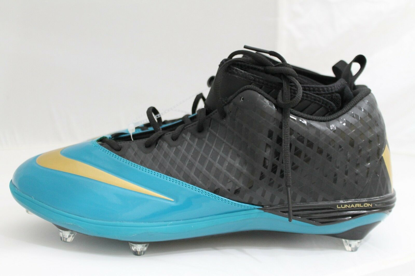 NEW Nike Superbad Pro Lunarlon--size 17, teal and black--544762-015
