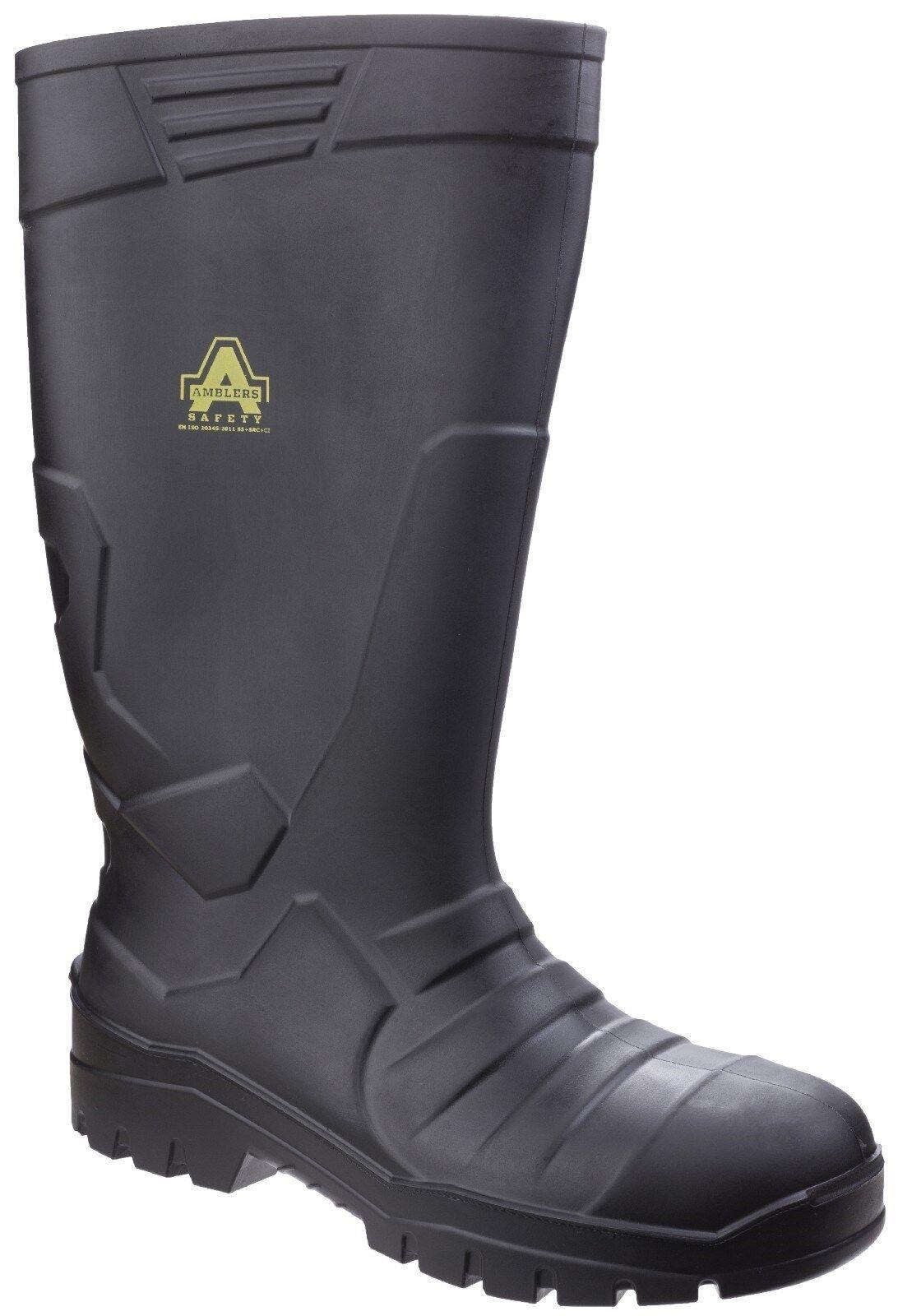 Amblers AS1006 Sicurezza Stivali di gomma Acciaio Puntale Stivali di Gomma da Uomo Work Boots