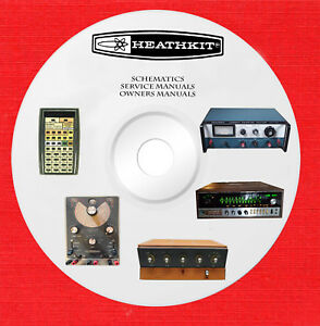 Details about Heathkit Repair Service schematics and Owner manuals on 1 DVD  in pdf format