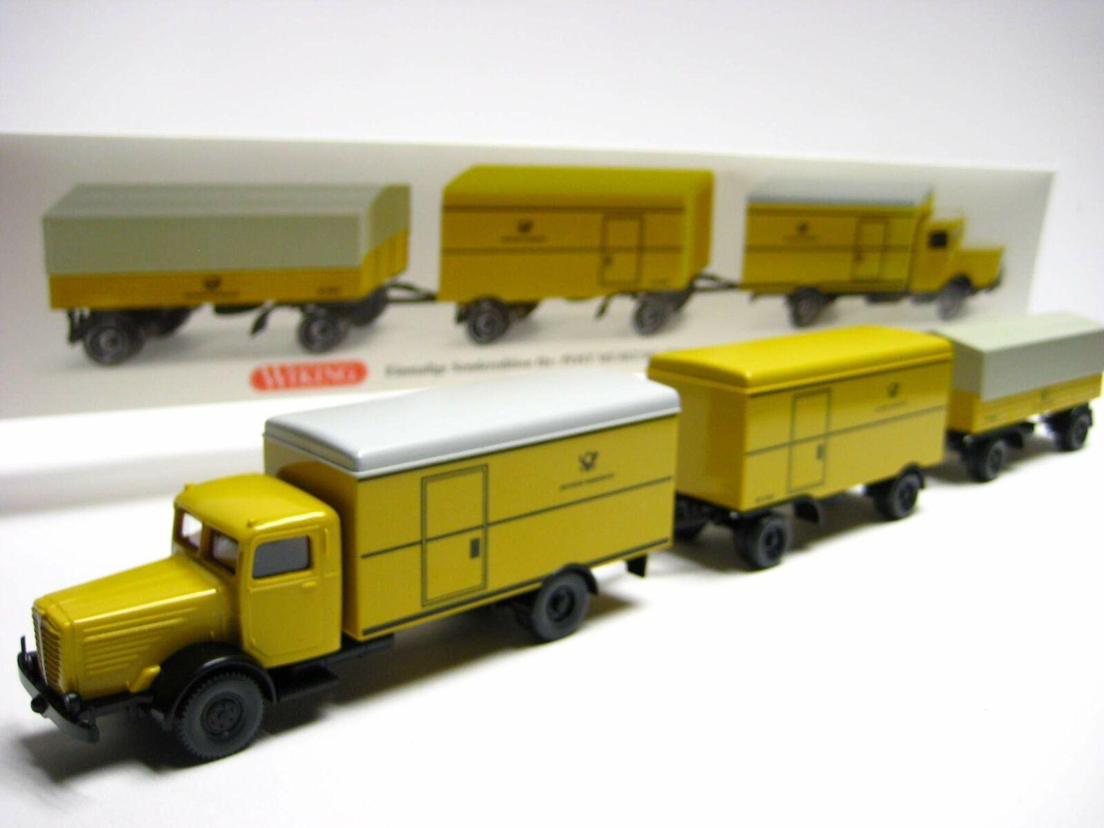 Wiking Post PMS 82-21 Büssing 8000 - Post - Paket-Lastzug 3tlg.