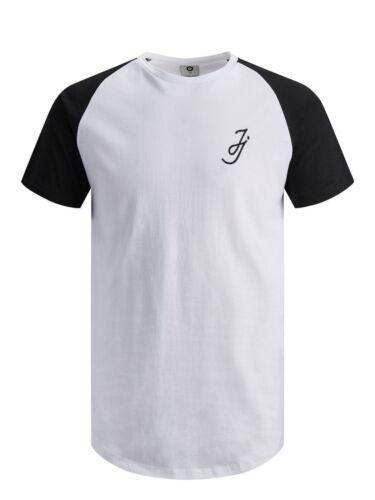 Jack /& Jones Core T-Shirt Mens Casual JJ Chest Logo Raglan Tee Jconame