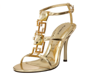 Man/Woman Enchant-25 Gold PU Sandals Pleaser USA good Diverse new design a good USA reputation in the world German Outlets 8d42c7