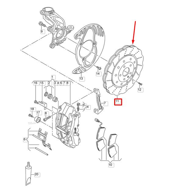 Genuine Audi Rsq3 365mm Front Brake Discs 8u0615301b For Sale Online