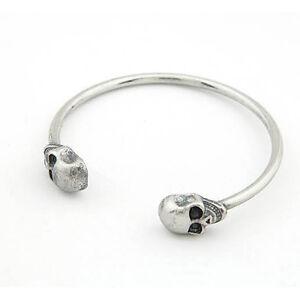 Retro-Alloy-Metal-Jewelry-Gothic-Rock-Cool-Cuff-Skeleton-Skull-Bangle-Bracelet