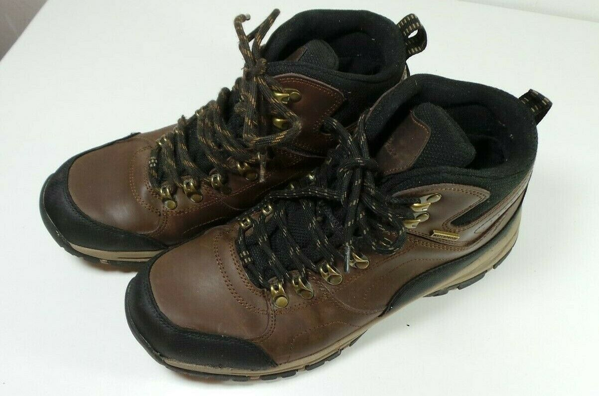 Eddie Bauer Men's Waterproof Leather & Rubber Boots Size 9 1 2