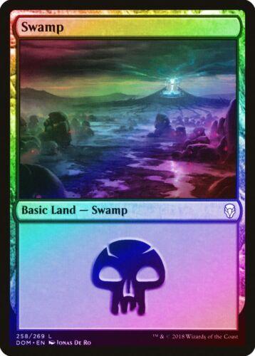 Swamp (258) FOIL Dominaria NM-M Basic Land MAGIC THE GATHERING MTG CARD ABUGames
