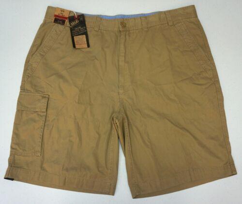 NWT $59 Roundtree /& Yorke Utility Tan Cargo Shorts Mens 44 46  Flat Front NEW