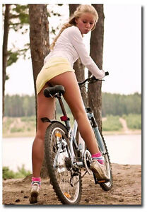 Girl bike cycle pussy