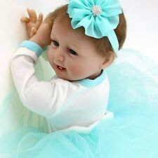 "22"" Handmade Baby Girl Vinyl Silicone Reborn Doll Real Newborn Baby Dolls Gift"